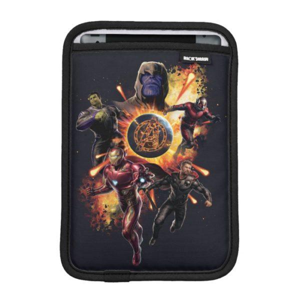 Avengers: Endgame   Thanos & Avengers Fire Graphic iPad Mini Sleeve
