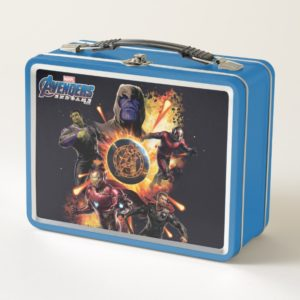 Avengers: Endgame | Thanos & Avengers Fire Graphic Metal Lunch Box
