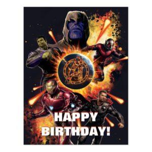 Avengers: Endgame | Thanos & Avengers Fire Graphic Postcard