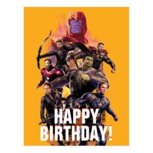 Avengers: Endgame | Thanos & Avengers Run Graphic Postcard