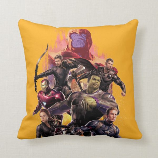 Avengers: Endgame | Thanos & Avengers Run Graphic Throw Pillow