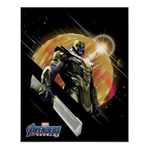 Avengers: Endgame | Thanos Planetary Graphic Poster