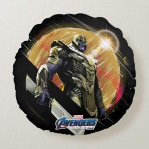Avengers: Endgame | Thanos Planetary Graphic Round Pillow