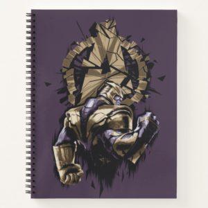 Avengers: Endgame   Thanos Shattered Avengers Logo Notebook