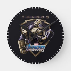 Avengers: Endgame | Thanos Shield Graphic Round Clock
