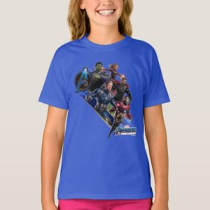 Avengers: Endgame | Group With Blue Logo T-Shirt