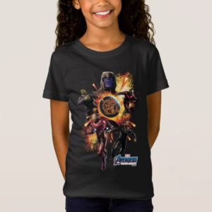 Avengers: Endgame | Thanos & Avengers Fire Graphic T-Shirt