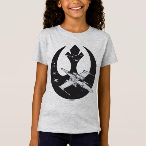 Alliance Starbird   X-Wing & Y-Wing Concept Art T-Shirt