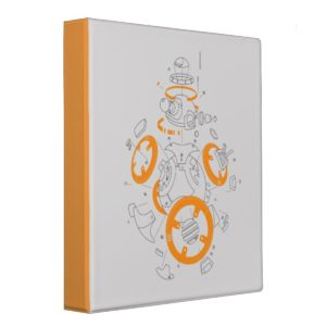 BB-8 Exploded View Drawing 3 Ring Binder