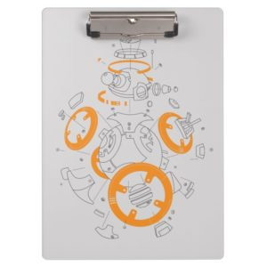 BB-8 Exploded View Drawing Clipboard