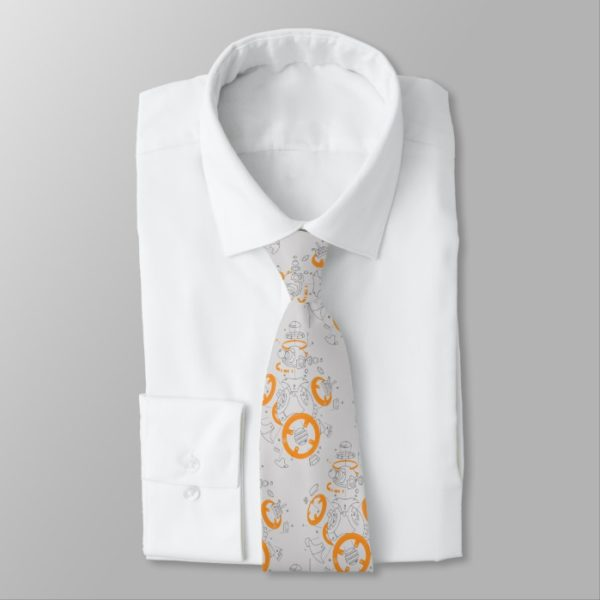 BB-8 Exploded View Drawing Neck Tie