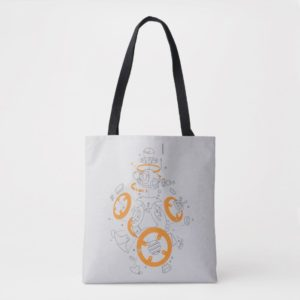 BB-8 Exploded View Drawing Tote Bag