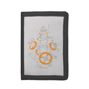 BB-8 Exploded View Drawing Trifold Wallet