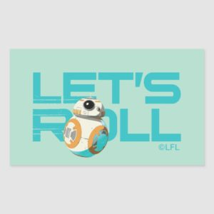 BB-8 | Let's Roll Rectangular Sticker