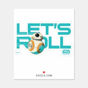 BB-8 | Let's Roll Sticker