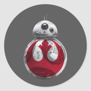 BB-8 | Rebel Alliance Symbol Classic Round Sticker