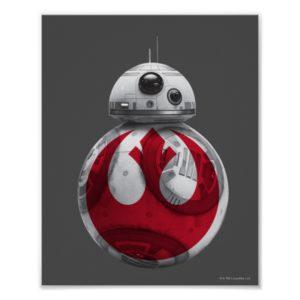 BB-8 | Rebel Alliance Symbol Poster