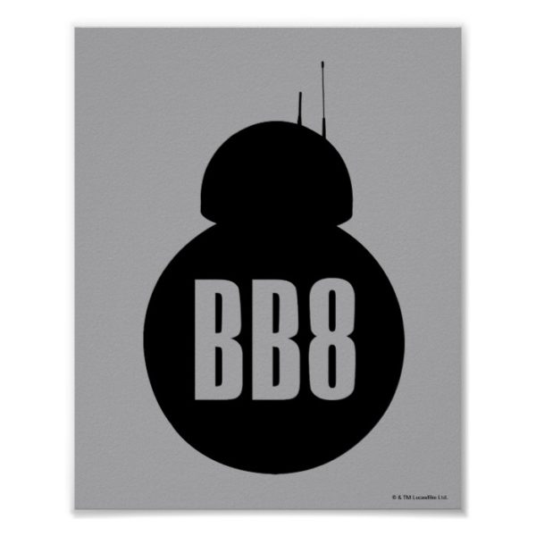 BB-8 Silhouette Poster
