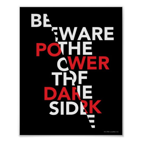 Beware the Power of the Dark Side Poster
