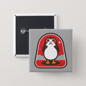 Cartoon Porg Badge Button