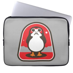 Cartoon Porg Badge Computer Sleeve