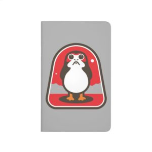 Cartoon Porg Badge Journal