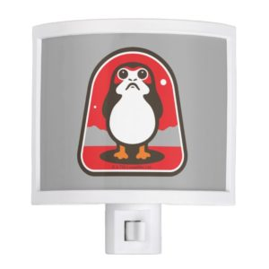 Cartoon Porg Badge Night Light