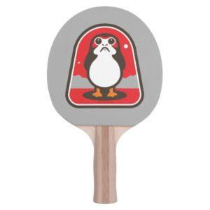 Cartoon Porg Badge Ping Pong Paddle