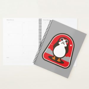 Cartoon Porg Badge Planner