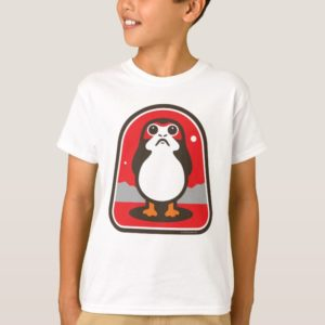 Cartoon Porg Badge T-Shirt