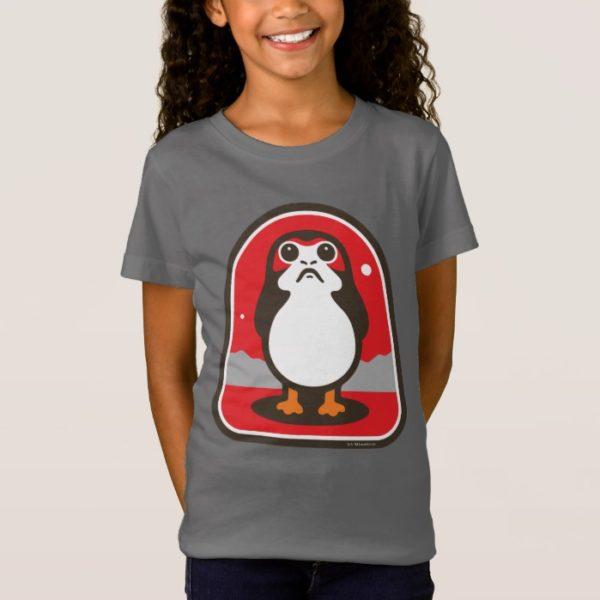 Cartoon Porg Badge T-Shirt