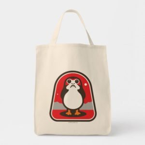 Cartoon Porg Badge Tote Bag