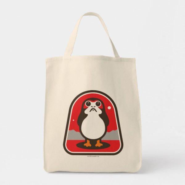 Cartoon Porg Badge Tote Bag