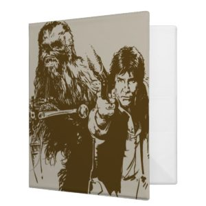 Chewie and Han Silhouette 3 Ring Binder