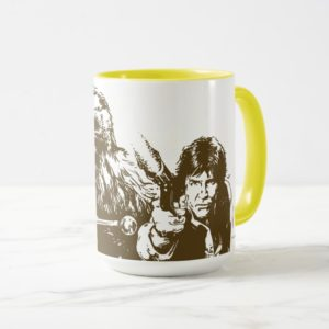 Chewie and Han Silhouette Mug