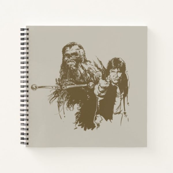Chewie and Han Silhouette Notebook