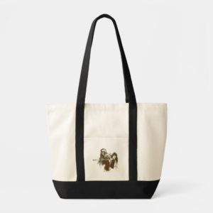Chewie and Han Silhouette Tote Bag