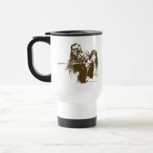 Chewie and Han Silhouette Travel Mug