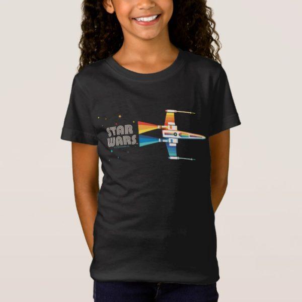 Cosmic Rainbow X-Wing Starfighter T-Shirt