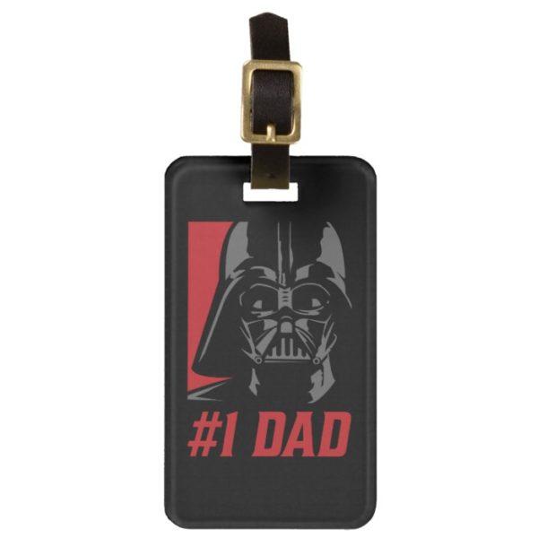 Darth Vader #1 Dad Stencil Portrait Bag Tag