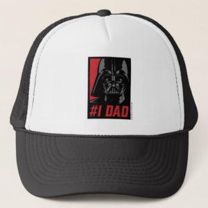 Darth Vader #1 Dad Stencil Portrait Trucker Hat