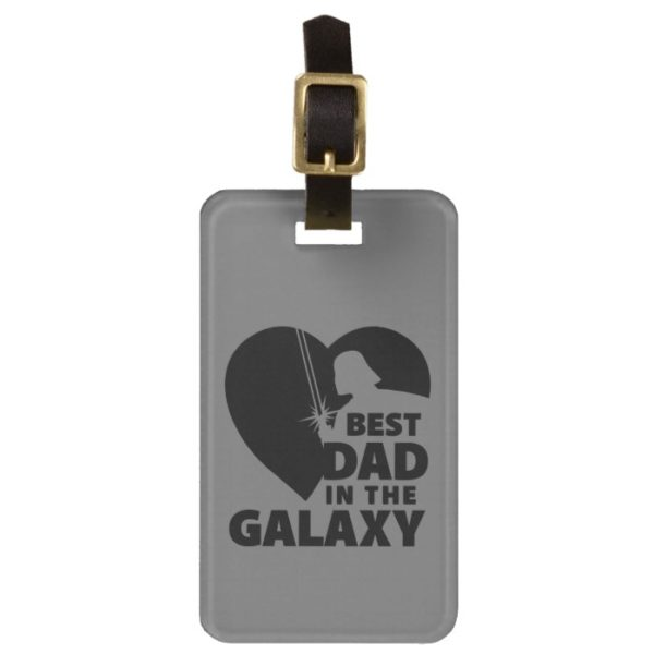 """Darth Vader """"Best Dad"""" Heart Silhouette Bag Tag"""