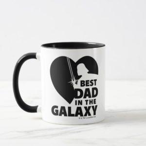 "Darth Vader ""Best Dad"" Heart Silhouette Mug"