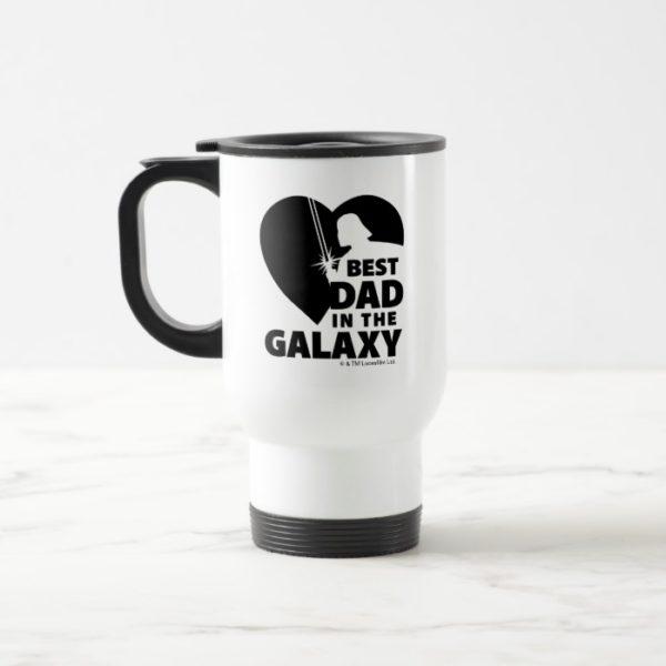 "Darth Vader ""Best Dad"" Heart Silhouette Travel Mug"
