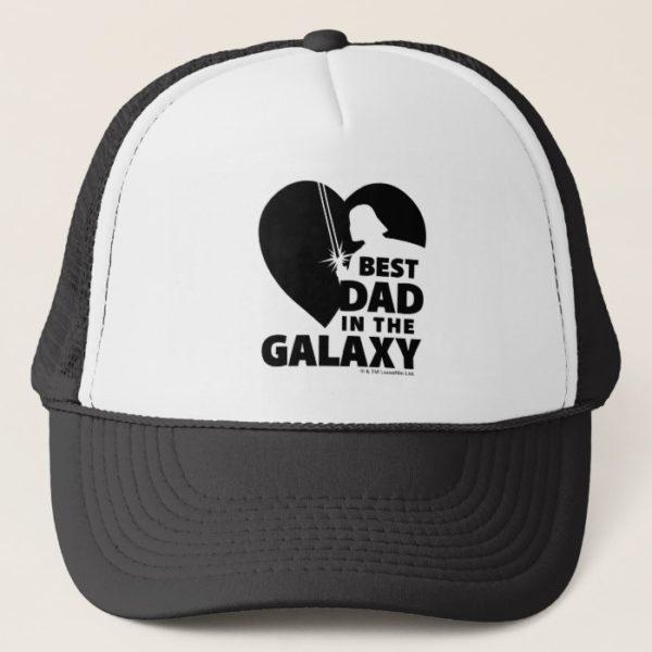 """Darth Vader """"Best Dad"""" Heart Silhouette Trucker Hat"""