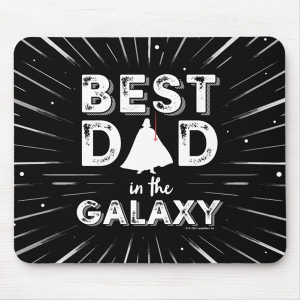 """Darth Vader """"Best Dad in the Galaxy"""" Mouse Pad"""