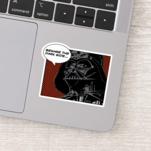 "Darth Vader Comic ""Beware The Dark Side"" Sticker"