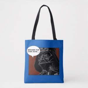 "Darth Vader Comic ""Beware The Dark Side"" Tote Bag"