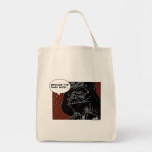 """Darth Vader Comic """"Beware The Dark Side"""" Tote Bag"""
