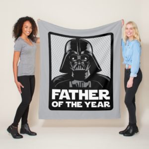Darth Vader Comic | Father of the Year Fleece Blanket